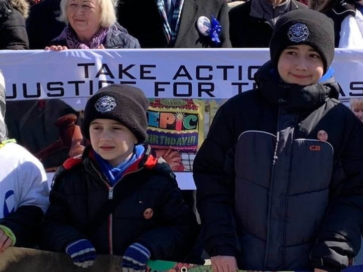 Andrew and Anthony Valva at the Justice for Thomas walk.