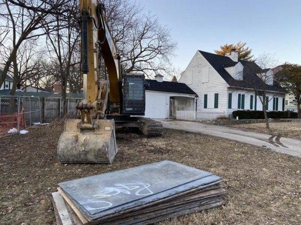 AJ Freund murder house prior to demolition