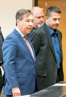 Attorney John LoTurco and client Michael Valva
