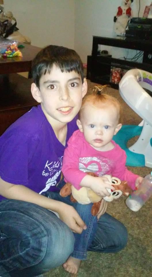 Jason Collado Jr. and niece Autumn Horak
