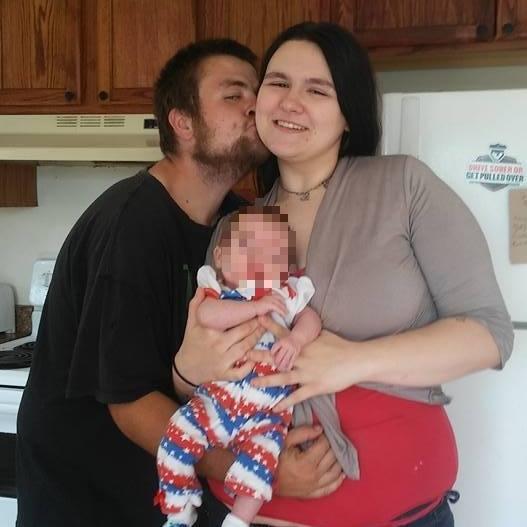 """Clifford Alan """"CJ"""" Stark Jr. and Tina Dayton of Columbus, Ohio with daughter"""