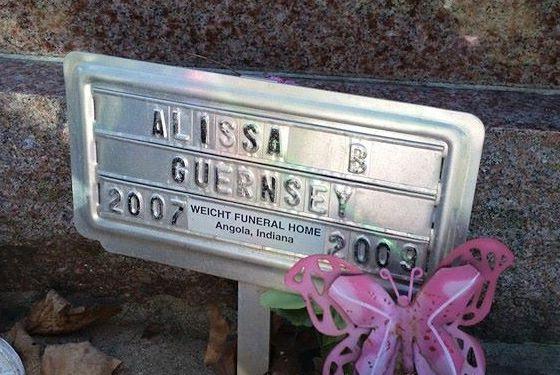 Alissa Guernsey's grave marker