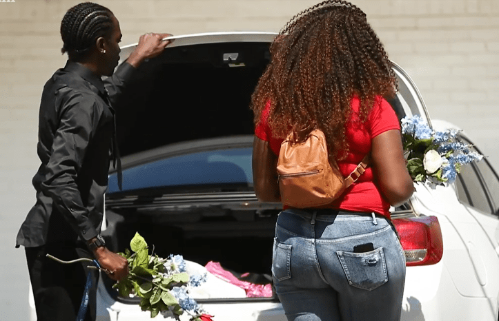Rodney Boone and Ariana George prepare for their son Amari Boone's funeral