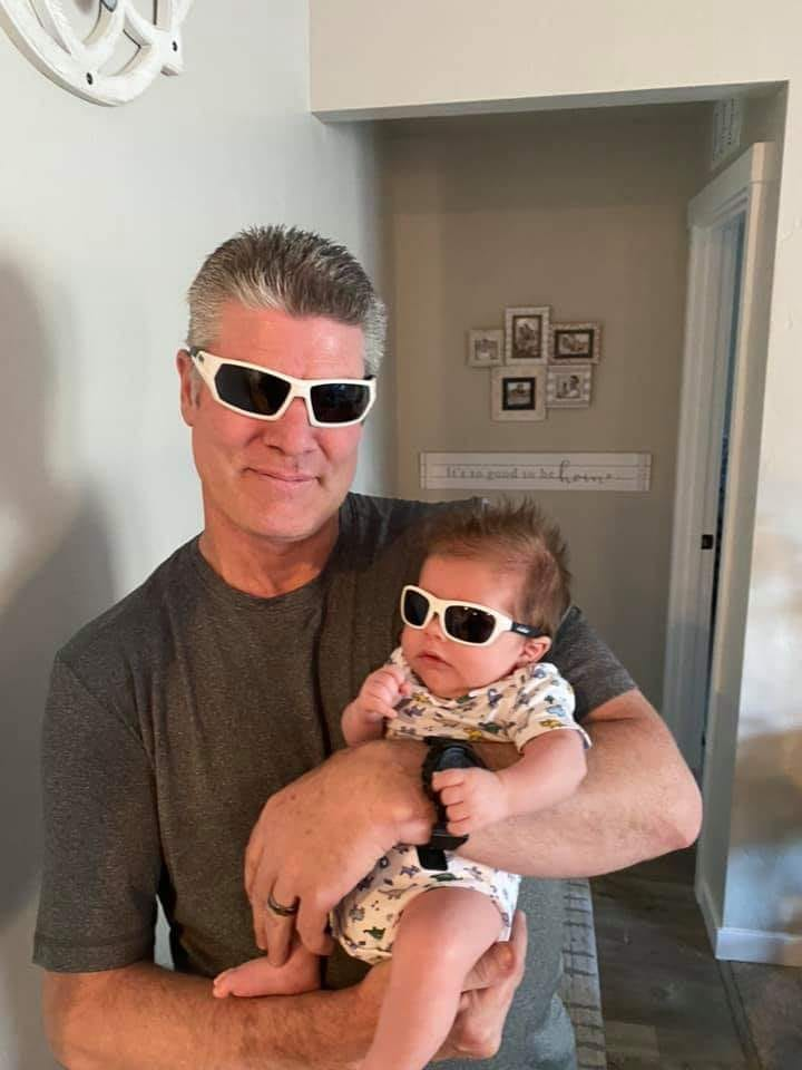 Mike McKinney and grandson Dawson