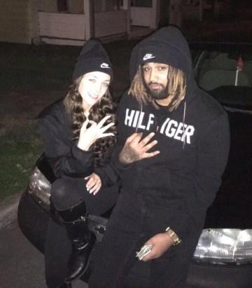 Alyssa Carpenter and Darven Moore Jr. in January of 2020