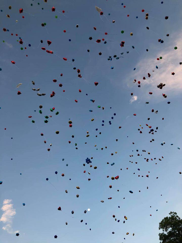 Frankie Gonzales memorial balloon launch