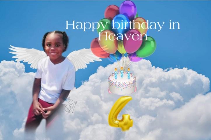 Happy birthday in heaven, Amari Boone by Donna Johnson Shadoan