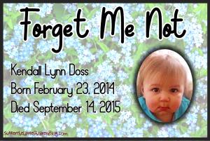 Forget Me Not: Kendall Lynn Doss on Suffer the Little Children Blog