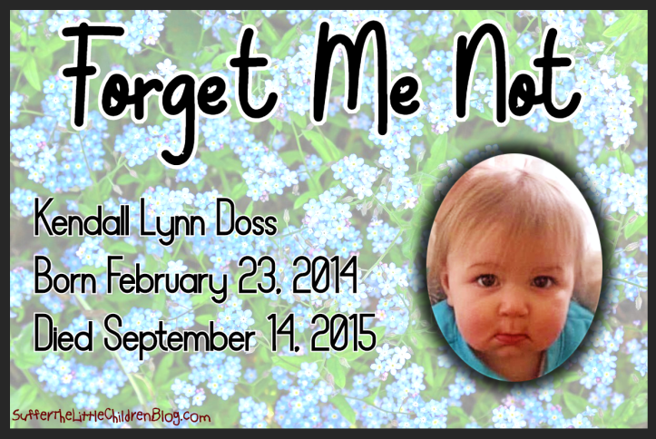 Forget Me Not: Kendall Lynn Doss on Suffer the Little Children Blog