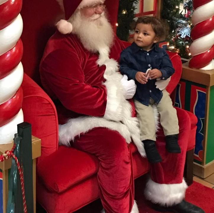 Ky'mani Moore on Santa's lap