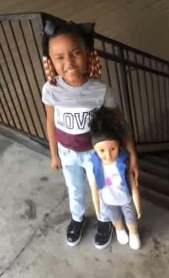 Daviana Landry and large doll