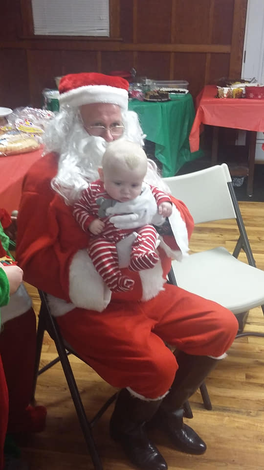 Steven Dale Meek II with Santa
