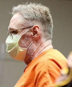 Drew Freund wearing face mask in court