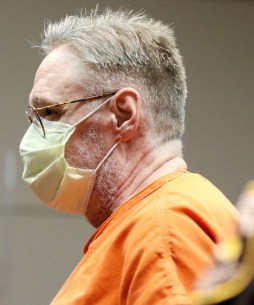 Drew Freund wearing face mask in court