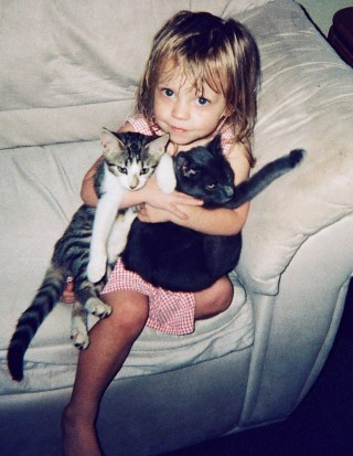 Lauren McConniel with two cats