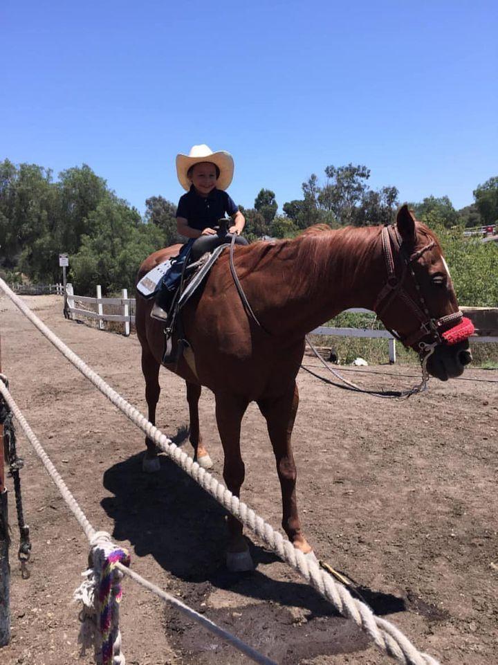 Emrik Osuna with horse