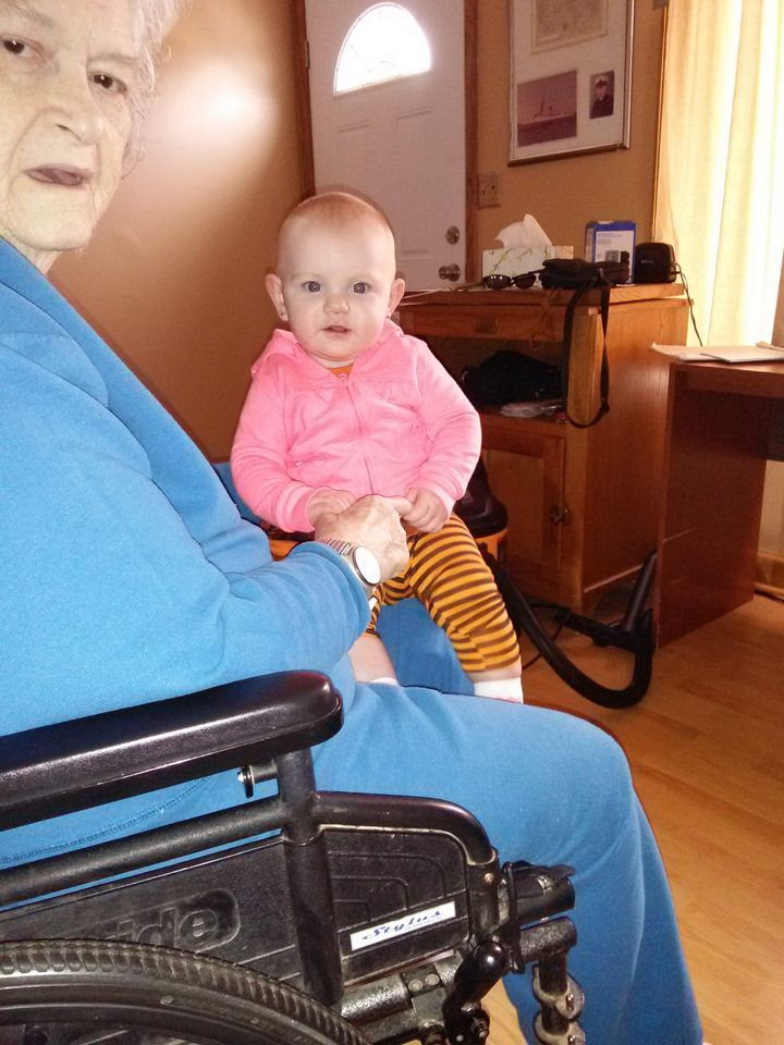 Kerrigan Rutherford with great grandmother Kay