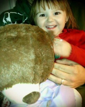 Averylee Hobbs with Daddy Bear