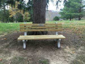 Averylee Hobbs memorial bench