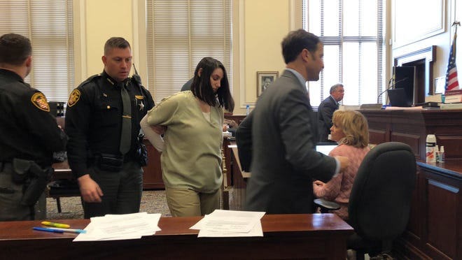Britney Roll Mayes at sentencing