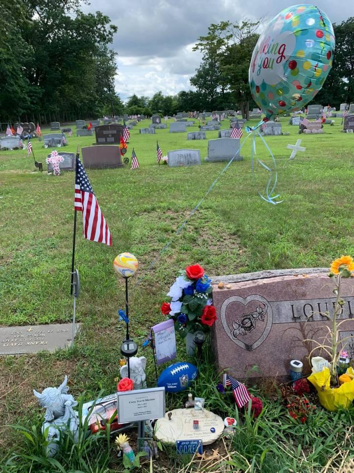 Corey Micciolo's grave