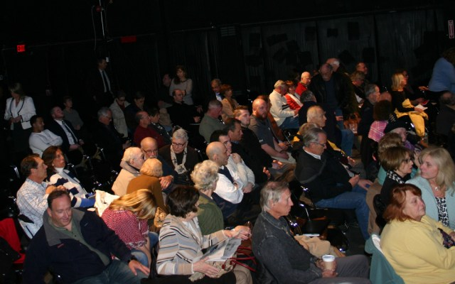 More than 350 people packed the LTV Studios in Wainscott Thursday evening. (Credit: Ambrose Clancy)