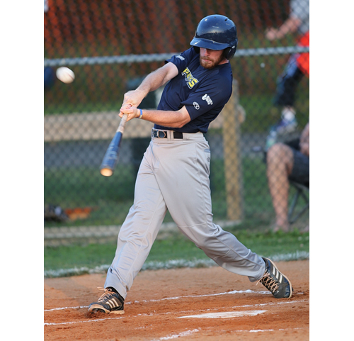 Ospreys center fielder Kyle Adie had a 5 RBI night against Riverhead Monday. (Credit: Garret Meade)