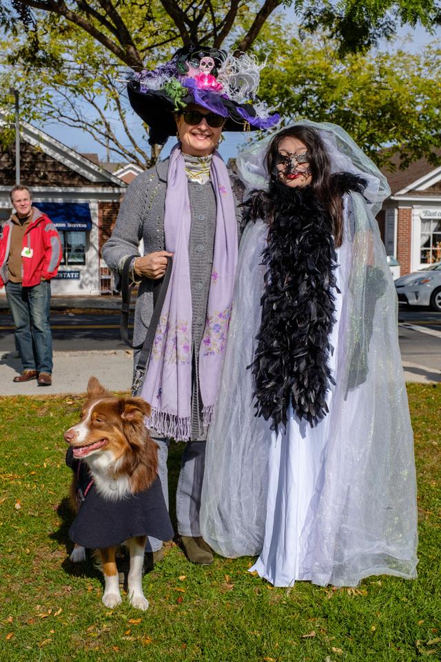 Ana & Elenna Patchke with Spirit the Dog