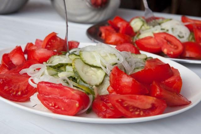 Fresh salad. (Credit: Katharine Schroeder)