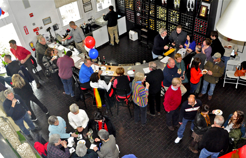 GIANNA VOLPE PHOTO | Inauguration Day partiers at Bedell Cellars, which provided wine for the inaugural luncheon in Washington, D.C.