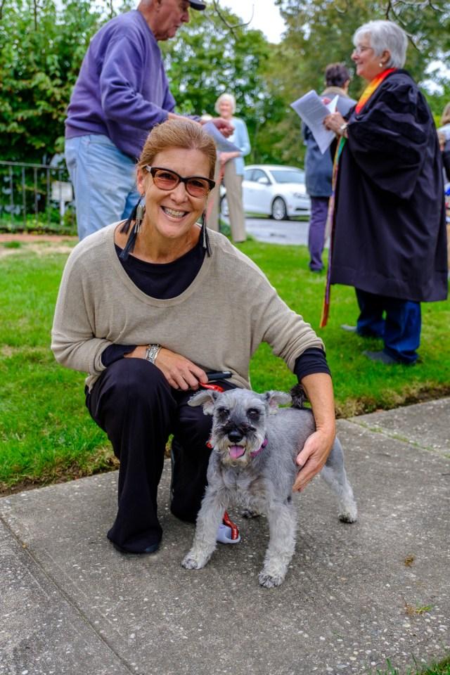 Cindy Raphael of Orient with her mini schnauzer, Torhi. (Credit: Jeremy Garretson)