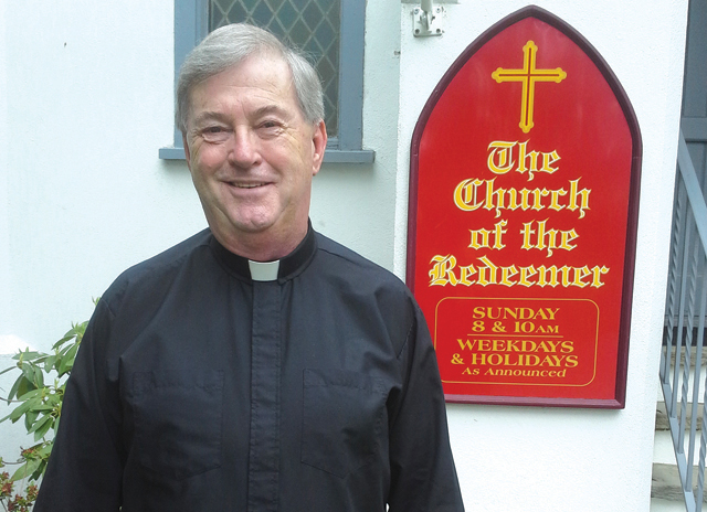Father Patrick McNamara, the 'new priest in town' at The Church of the Redeemer in Mattituck. (Credit: Courtesy Photo)