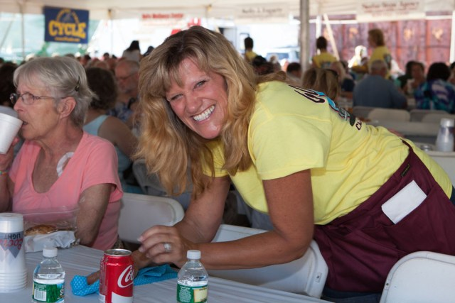 Volunteer Jan Robins of Cutchogue. (Credit: Katharine Schroeder)