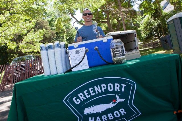 Greenport Harbor Brewing was serving up drinks Saturday. (Credit: Katharine Schroeder)