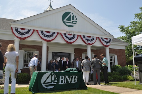 Bridgehampton National Bank celebrate the opening of its new Mattituck location in July. (Credit: Cyndi Murray file)