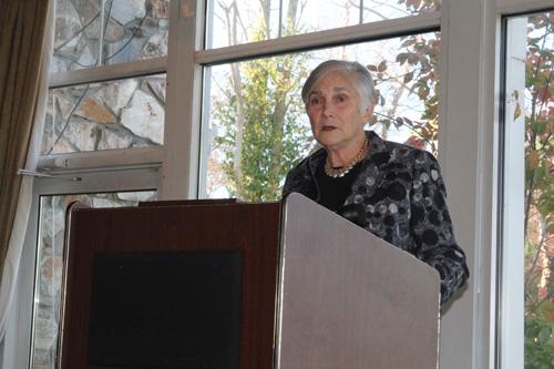 JENNIFER GUSTAVSON PHOTO | Diane Ravitch talking with Long Island educators in Hauppauge Tuesday morning.