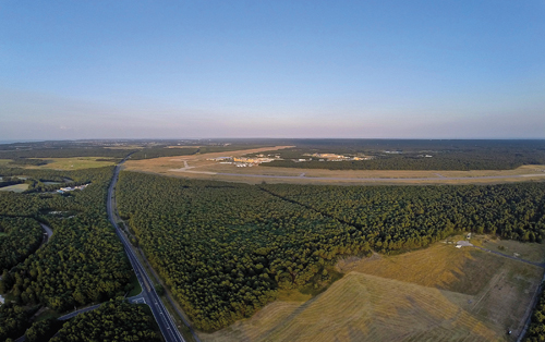 Photo: A bird's eye view of the Enterprise Park at Calverton site. (Credit: Andrew Lepre, file)
