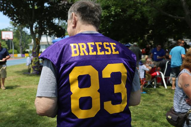 Tom Breese wore his No. 83 Porters uniform. (Credit: Joe Werkmeister)