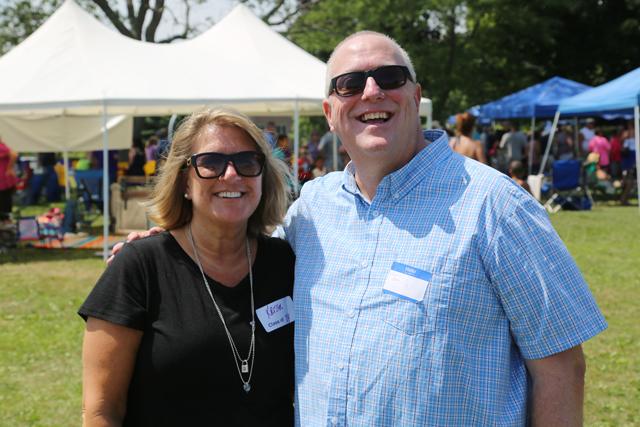 Kristen Rische ('84) and Jim Harrison ('83). (Credit: Joe Werkmeister)