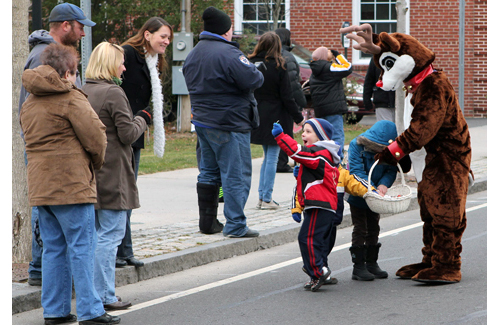 Candy may be handed out but not thrown during parades in Southold Town. (Credit: Katherine Schroeder, file)
