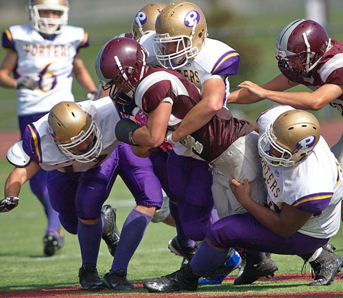 GARRETT MEADE PHOTO | The Porters football team has opened up the season with two straight wins.