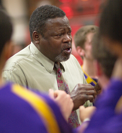 GARRET MEADE FILE PHOTO | Al Edwards, talking to his players during his last game as Greenport's coach, is retiring after 34 years of running the team.