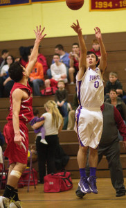 GARRET MEADE PHOTO | Billy Doucett shot in 20 points to lead Greenport in its rout of Southold.