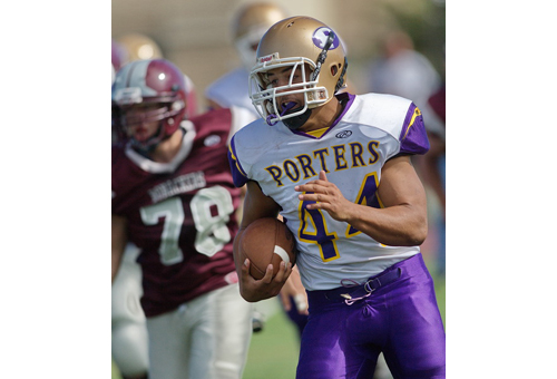 GARRET MEADE PHOTO   Frank Sierra ran for 3 touchdowns and 135 yards as Greenport/Southold/Mattituck won its second game in a row.