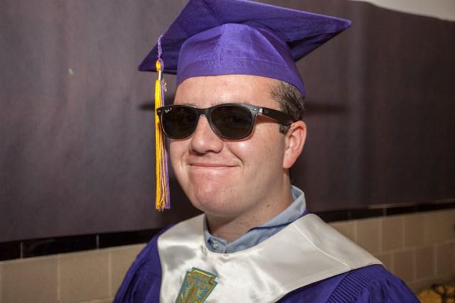 Graduate Aidan Pollock. (Credit: Katharine Schroeder)