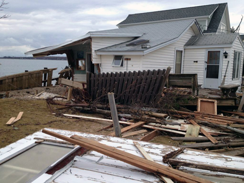TROY GUSTAVSON PHOTO | Rabbit Lane in East Marion was among the streets hit hardest by Hurricane Sandy on the North Fork.