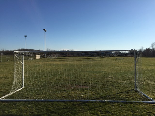 The field at Aldrich Lane park in Laurel could be turned from sod to artificial turf. (Credit: Paul Squire)
