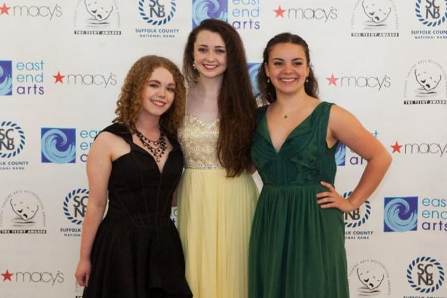 Gwyn Foley, Colleen Kelly, and Raven Janoski from Mattituck High School. (Credit: Katharine Schroeder)