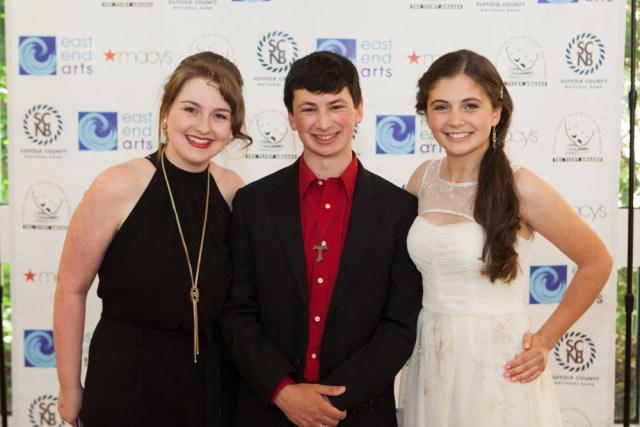 Grace Lukachinski, Max Crean, and Olivia Geppel of McGann-Mercy High School. (Credit: Katharine Schroeder)