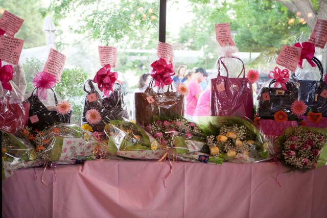 Handbags and flowers. (Credit: Katharine Schroeder)